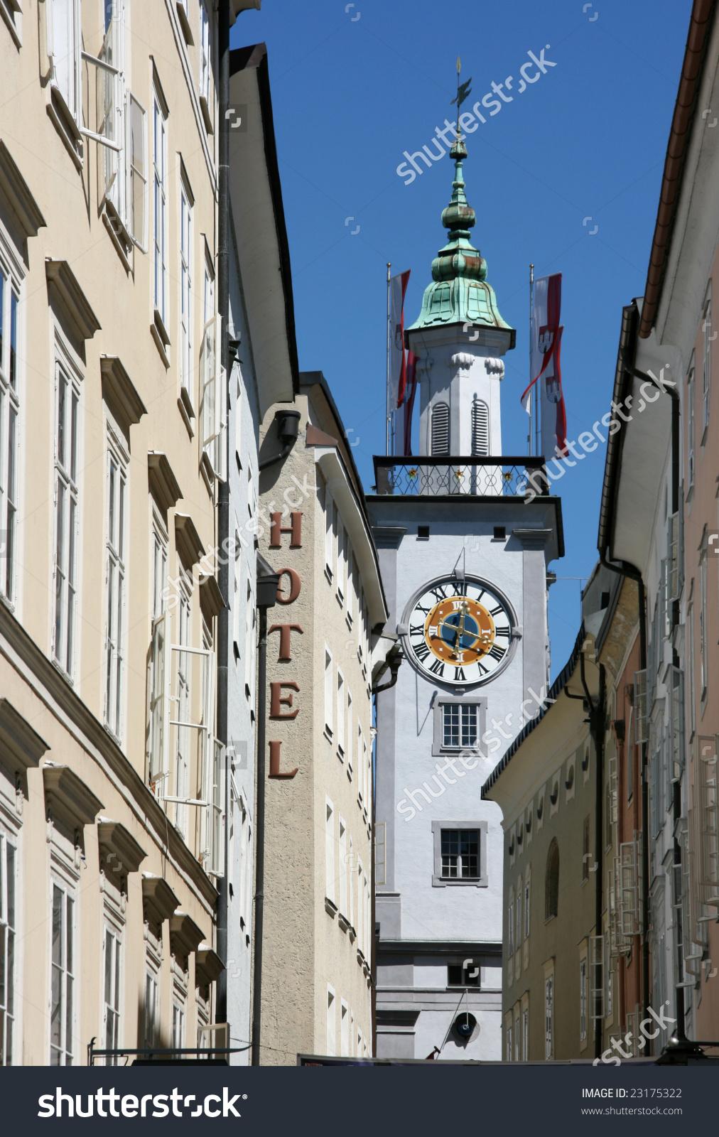 Altes Rathaus (Old Town Hall) In Salzburg, Austria Stock Photo.