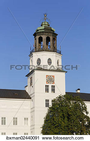 "Stock Photography of ""Salzburg Glockenspiel, Neue Residenz palace."