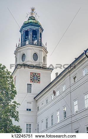 Stock Photography of Carillion (Glockenspiel) located at Salzburg.