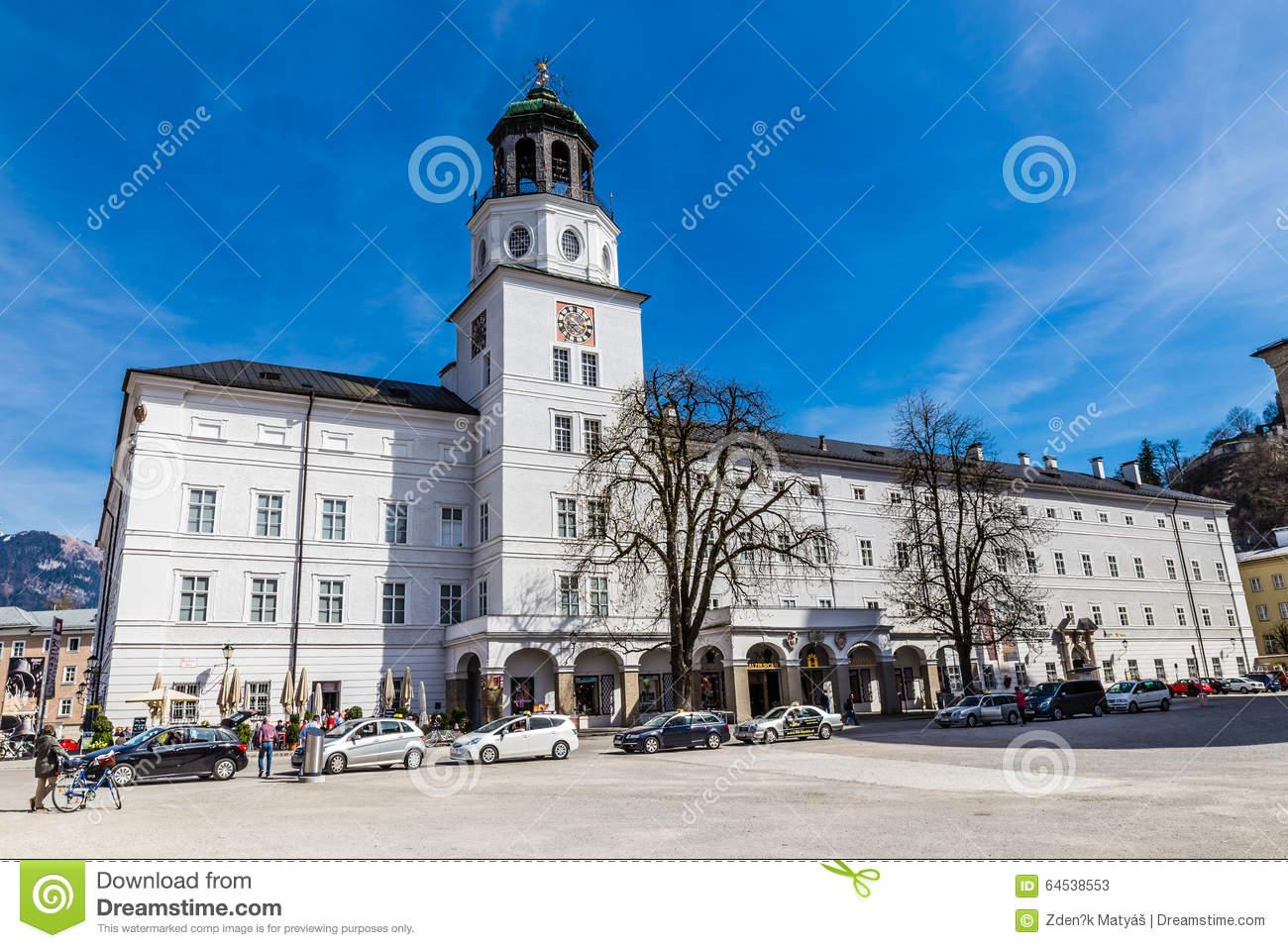 Palace And Salzburger Clock Tower.