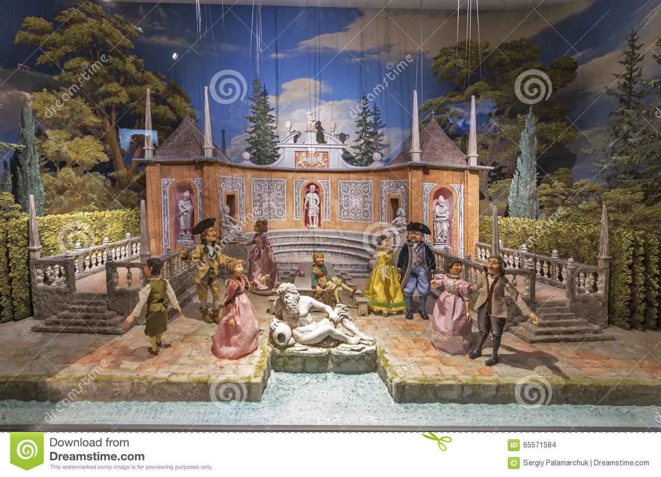 Puppet Baroque Installation In Hohensalzburg Fortress. Salzburg.