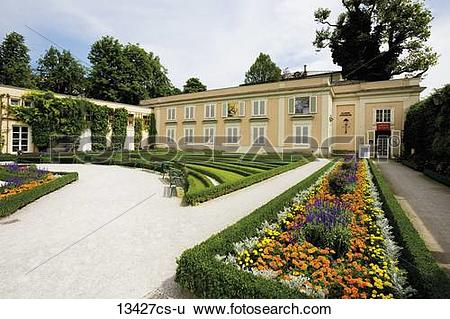 Stock Images of Austria, Salzburg, View of Mirabellgarten.