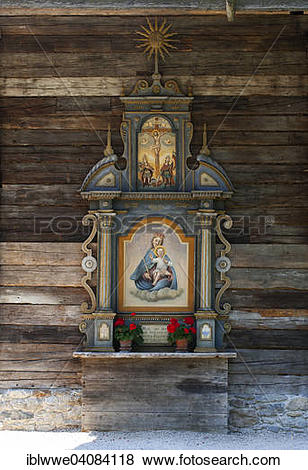 Pictures of Altar in a chapel, open.