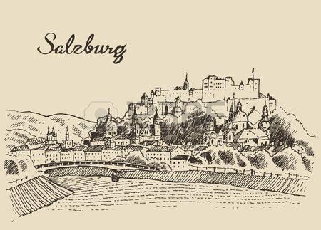 278 Salzburg Illustration Stock Vector Illustration And Royalty.