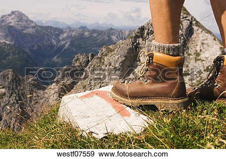 Stock Photograph of Austria, Salzburger Land, hiking man, low.
