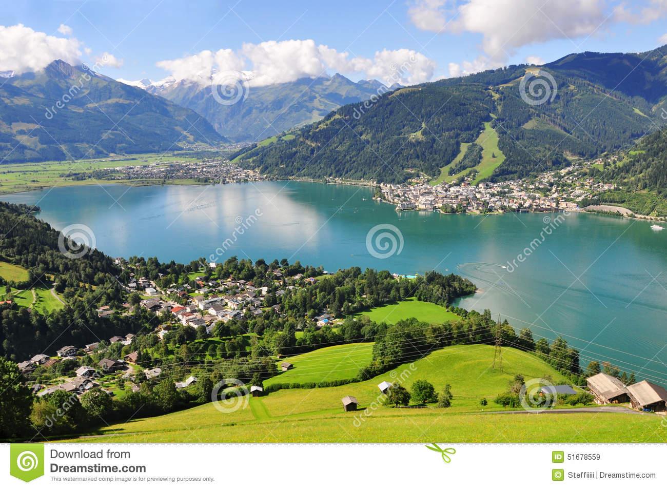 Zell Am See, Salzburger Land, Salzburg, Austria Stock Photo.