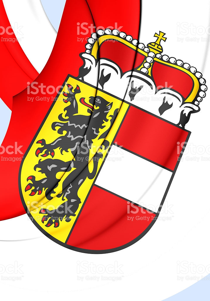Flag Of Salzburg Land Austria stock vector art 487469564.