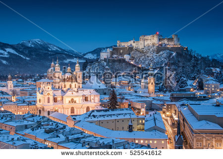 Salzburg Winter Stock Photos, Royalty.
