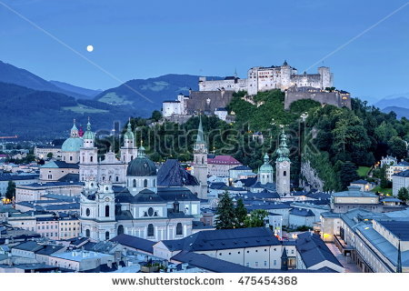 Night Salzburg By Stock Photos, Royalty.