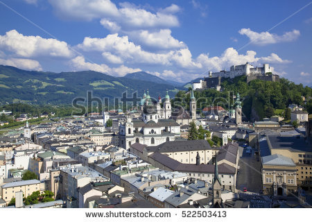 Salzburg's old town clipart #11