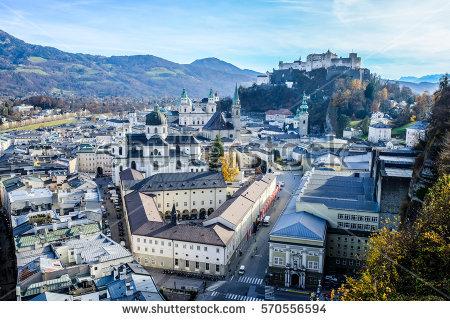 Salzburg's old town clipart #5