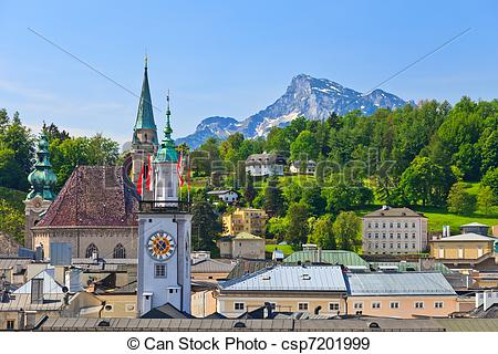 Stock Photographs of Old town Salzburg, Austria csp7201999.
