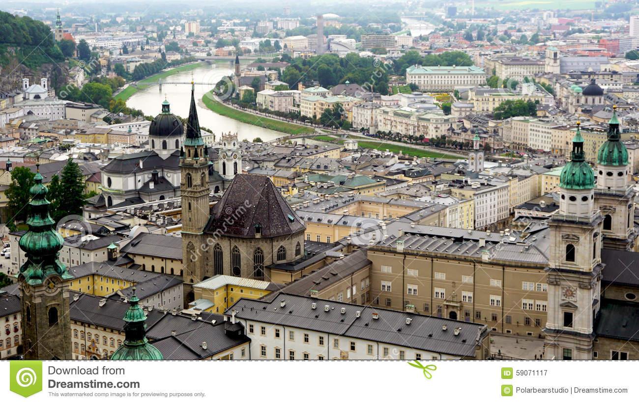 Salzburg's old town clipart #20