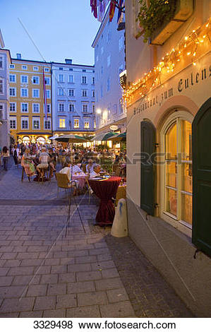 Pictures of City scene in the old town, Salzburg, Austria 3329498.