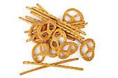 Stock Photo of Salty cracker and pretzel k23809394.
