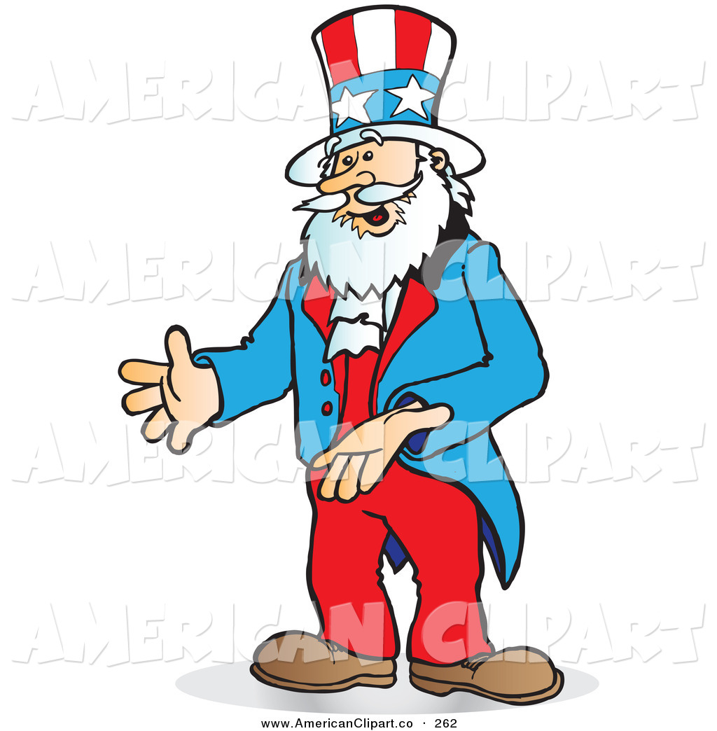 Zombie Uncle Sam Clip Art.