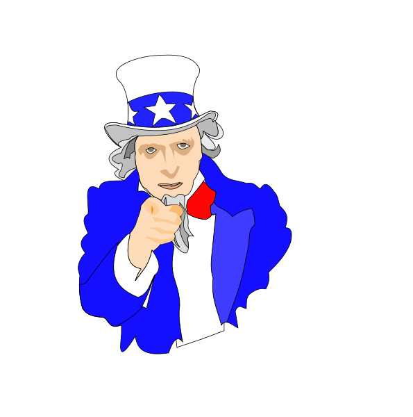 Uncle Sam Clipart, vector clip art online, royalty free design.