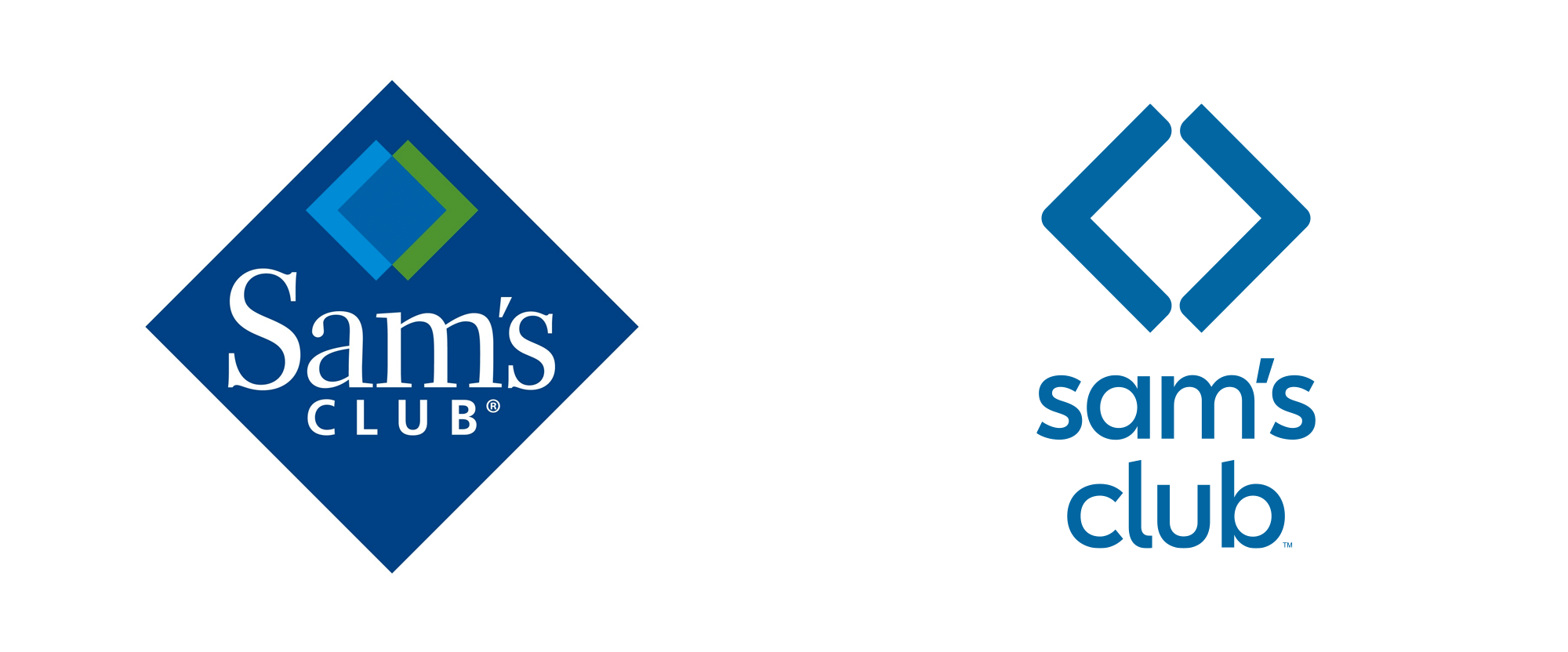 Brand New: New Logo for Sam\'s Club.