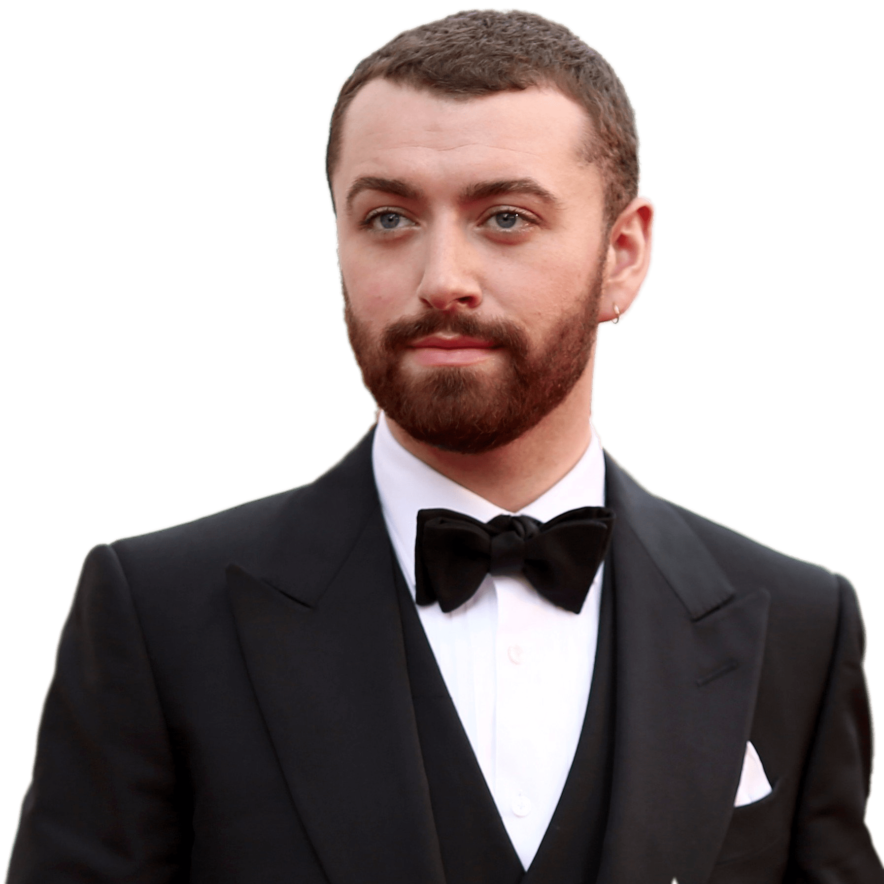 Sam Smith Wearing Tuxedo transparent PNG.
