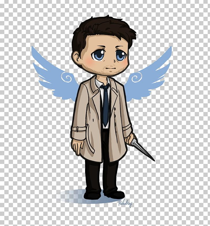 Castiel Dean Winchester Sam Winchester Sticker Drawing PNG.