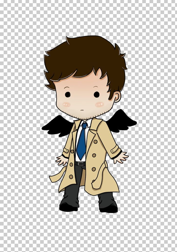 Castiel Dean Winchester Sam Winchester Chibi Drawing PNG.