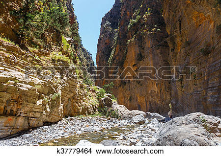 Stock Photo of Samaria Gorge on Crete, Greece k37779464.