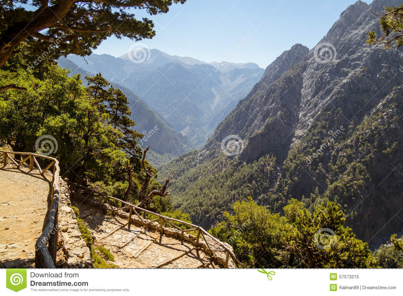 Samaria Gorge. Crete, Greece Stock Photo.