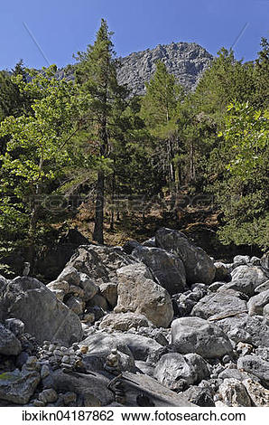 Stock Photo of Samaria Gorge National Park, Crete, Greece, Europe.