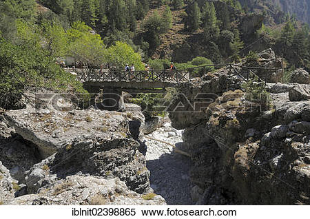 "Stock Image of ""Bridge near Samaria, Samaria Gorge, Crete, Greece."