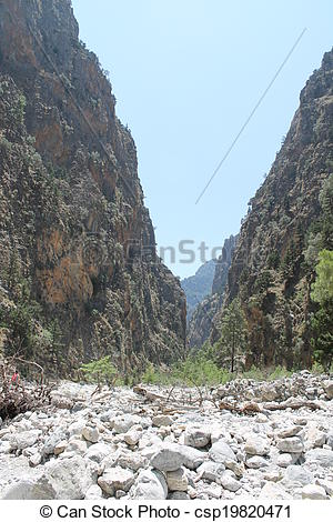 Picture of samaria gorge, crete.