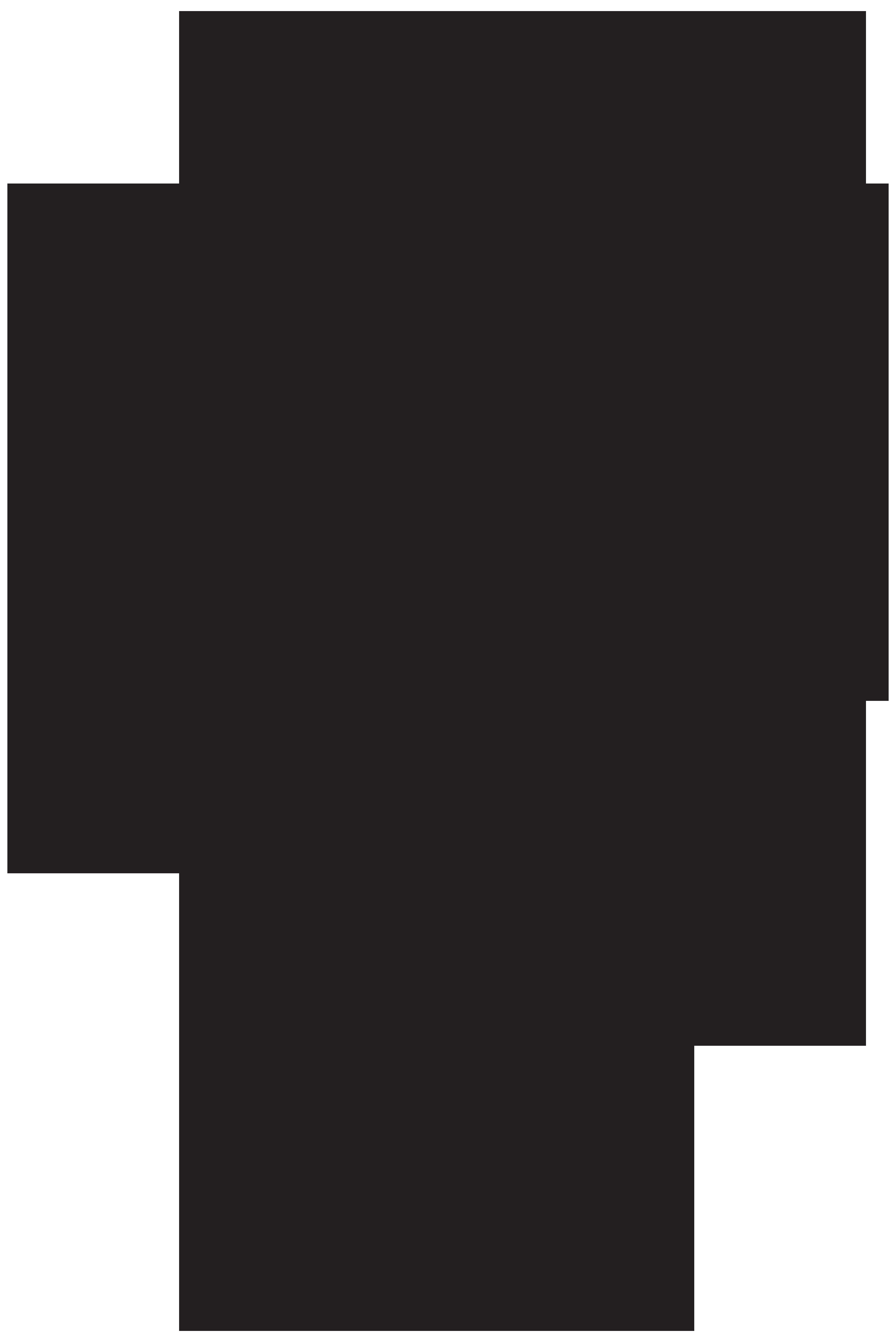 Brazilian Samba Dancer Silhouette PNG Clip Art Image.