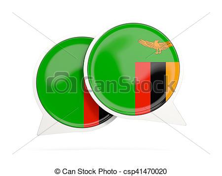 Clip Art von Fahne, Ikone, runder, Unterhaltung, Sambia.