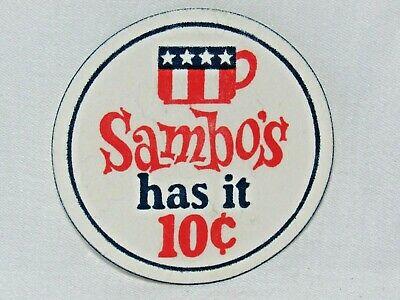 VINTAGE SAMBO\'S RESTAURANT Rare Souvenir Menu, Coffee Cup.