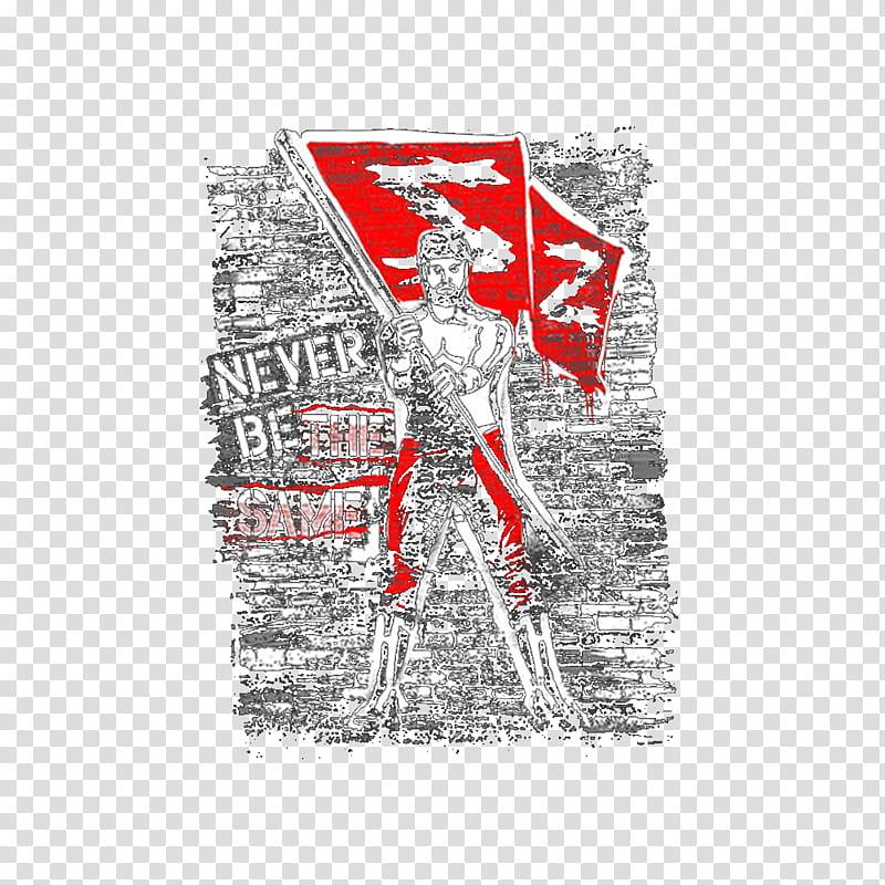 Sami Zayn Never Be The Same Tee Logo transparent background.