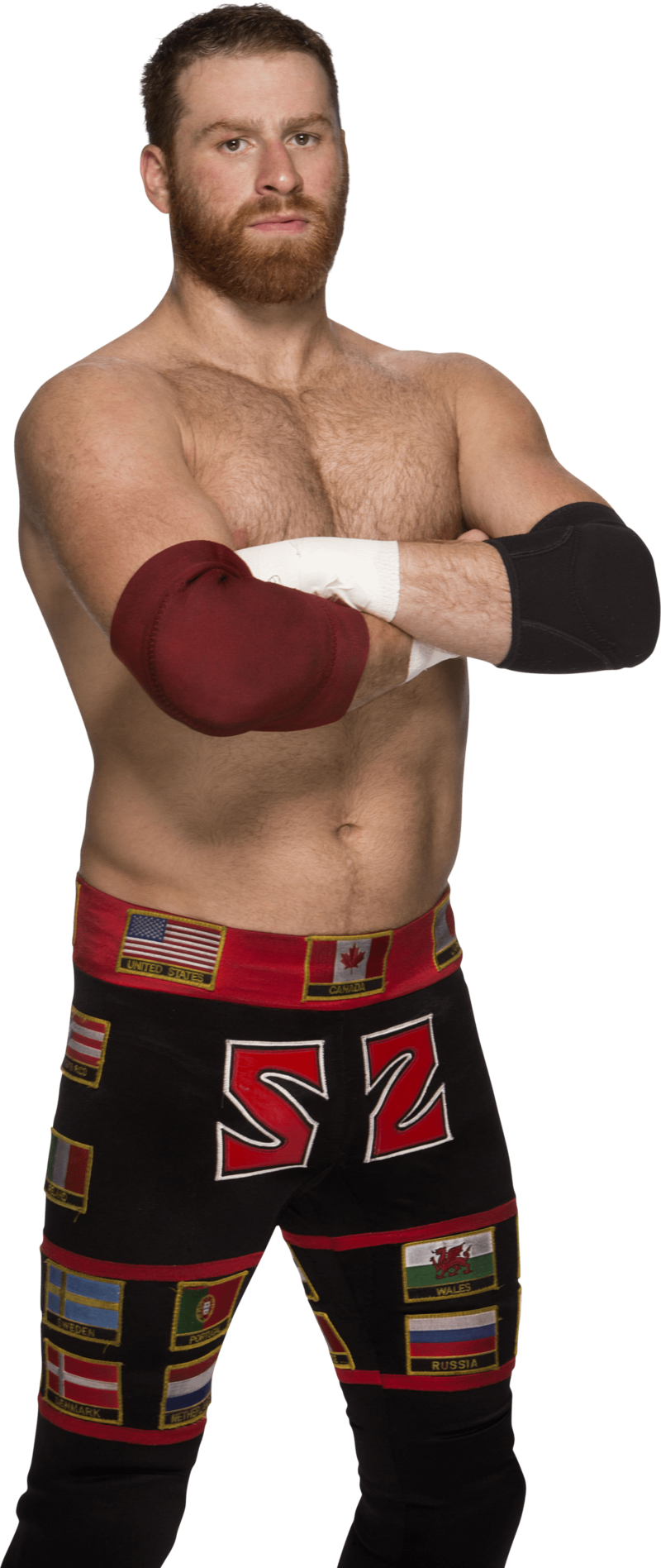 Download Free png sami zayn standing.