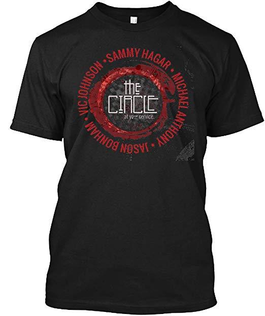 Amazon.com: LuckyTee The Circle Logo & Sammy Hagar PIPA 11.