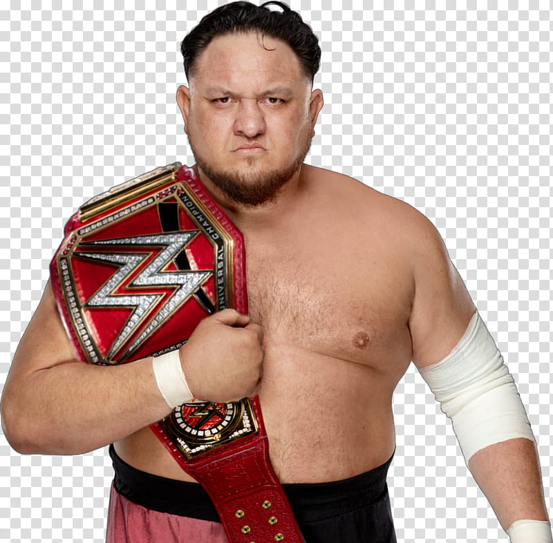SAMOA JOE UNIVERSAL CHAMPION transparent background PNG.