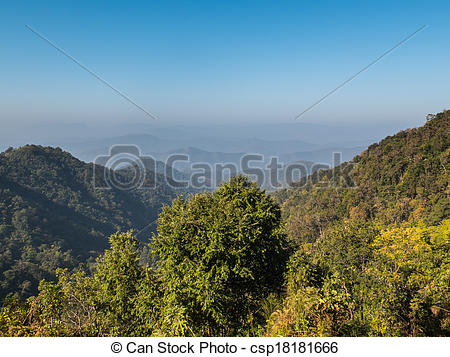Stock Image of Mountain viewpoint at samoeng in chiang mai.