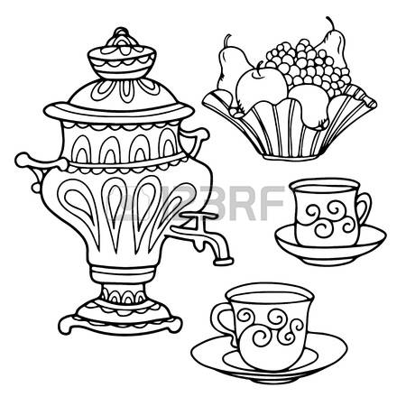 381 Samovar Tea Stock Illustrations, Cliparts And Royalty Free.