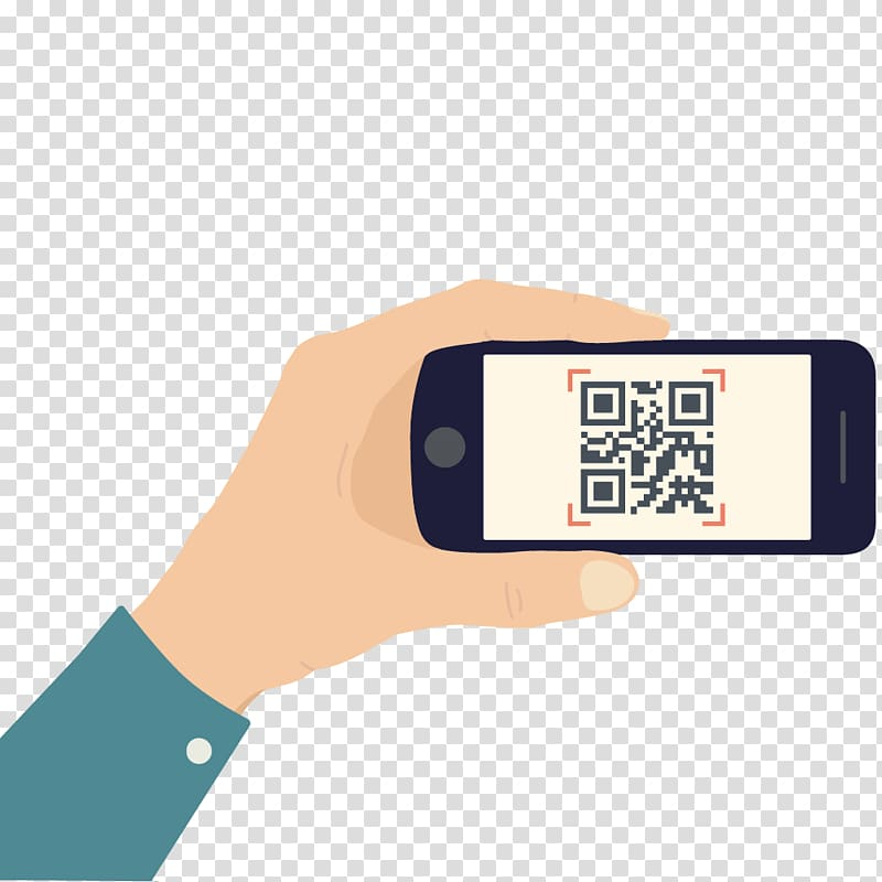 QR code illustration, Template Mobile phone QR code.