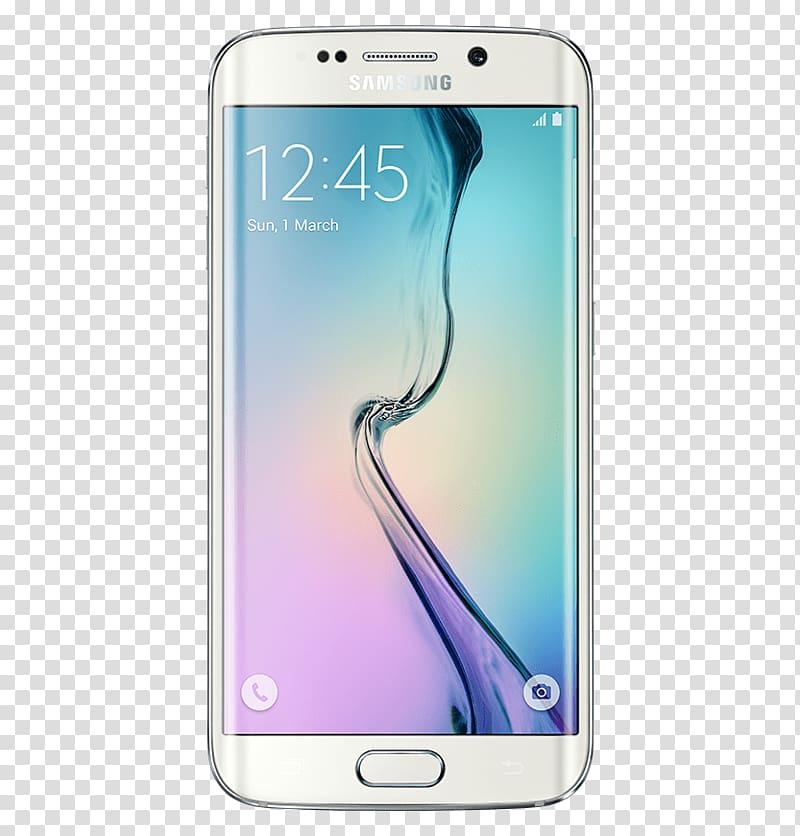 Silver Samsung Galaxy S6 Edge, Samsung Galaxy S6 Edge.
