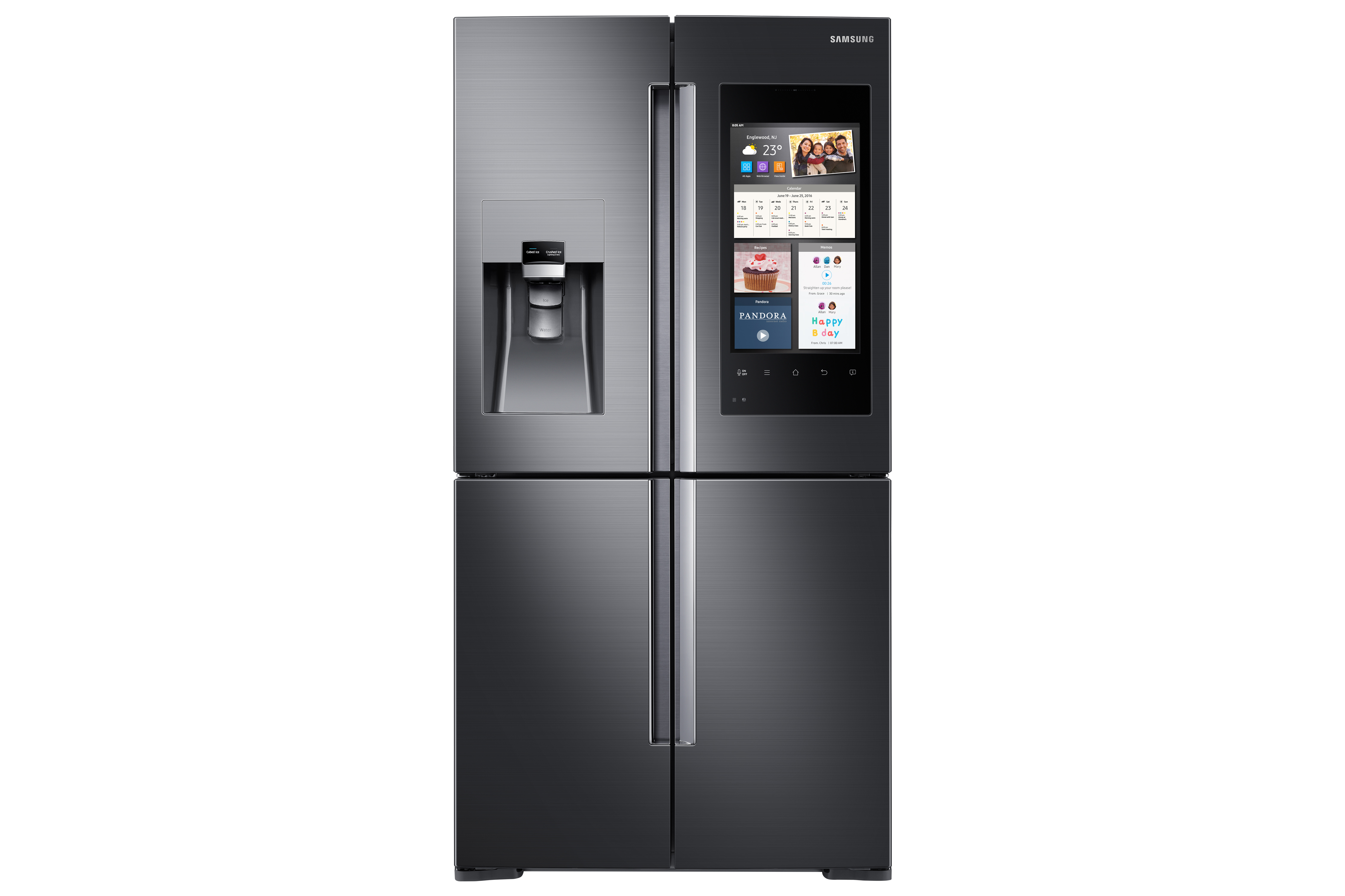 Samsung Empowers Life in the Kitchen with Family Hub.