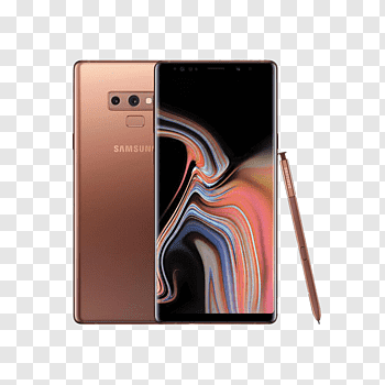 Samsung Galaxy Note 9 cutout PNG & clipart images.