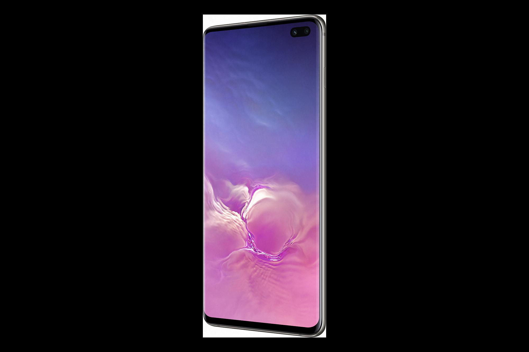 Samsung Galaxy S10 Ceramic Black Side PNG Image.