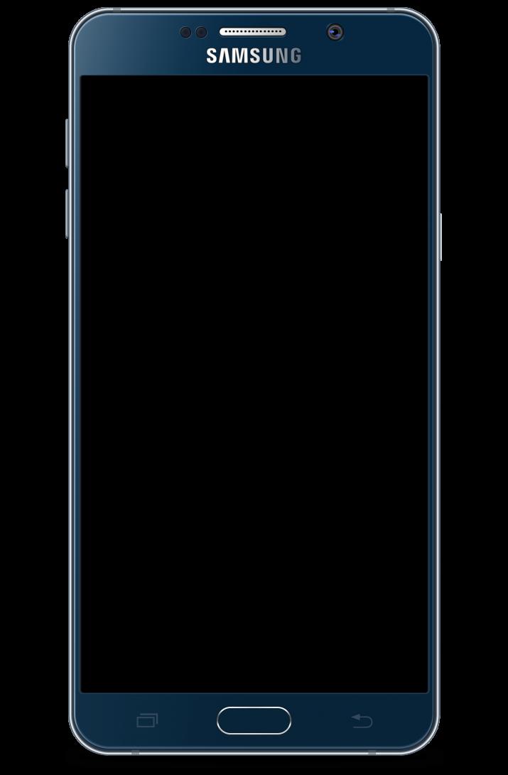 Samsung Galaxy Note 5 transparent background.