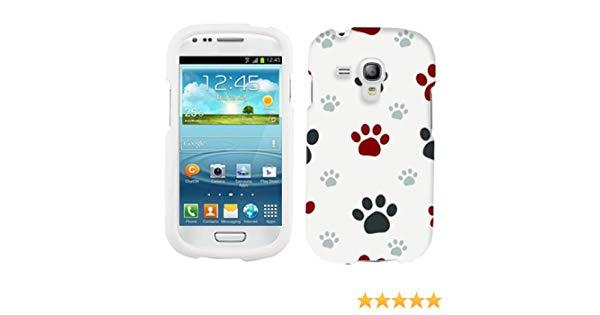 Samsung Galaxy S3 Mini Paw Print Clip Art Hard Case Phone Cover.