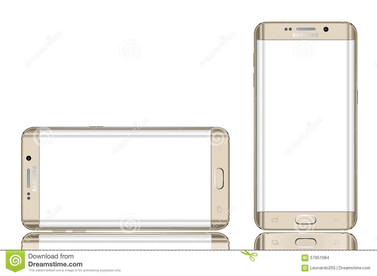 Samsung Galaxy S6 Clipart.