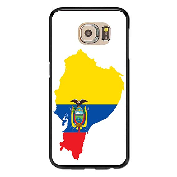 Amazon.com: Samsung Galaxy S6 Case Clipart Ecuador Flag Map.