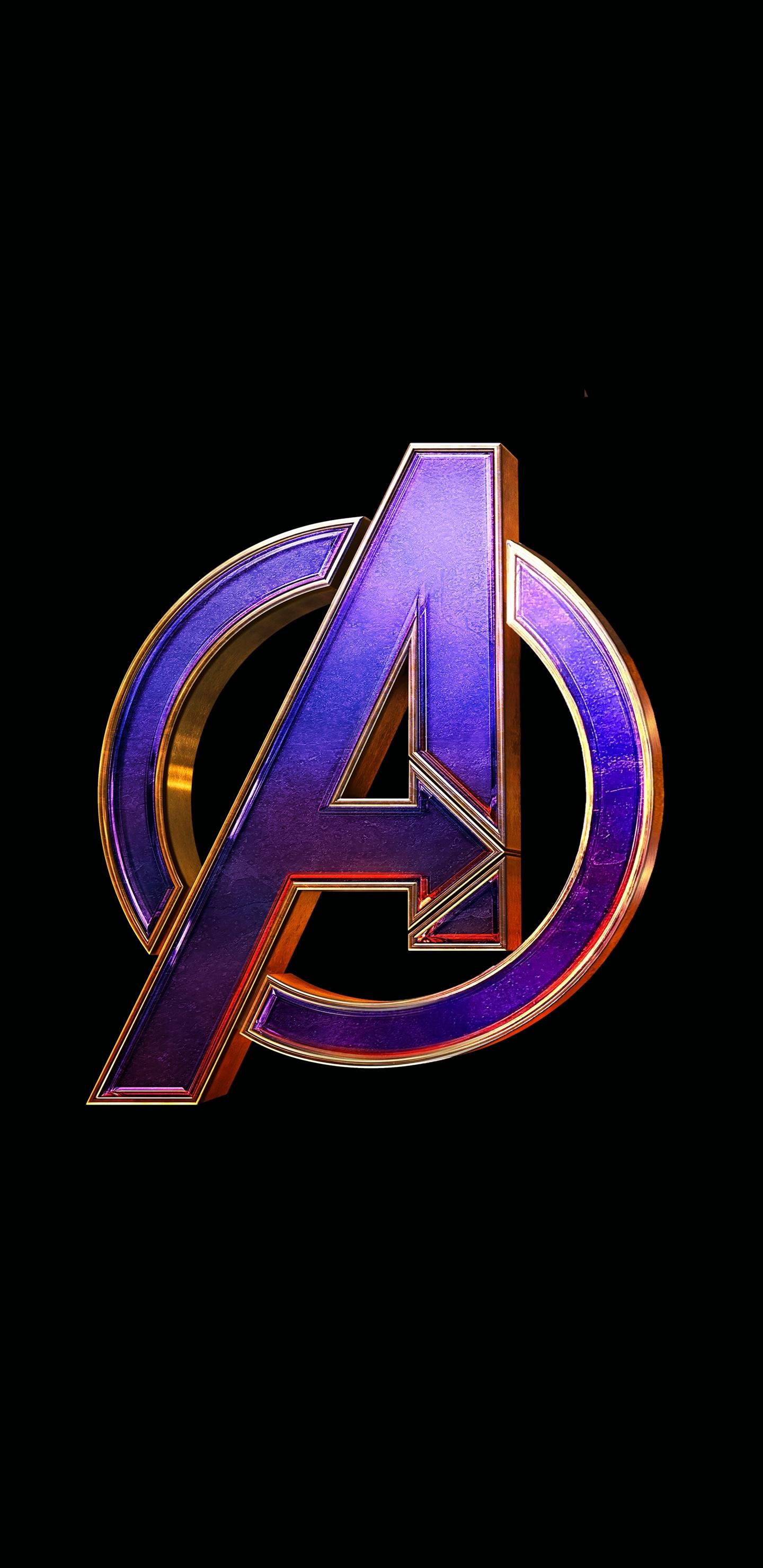 Download 1440x2960 wallpaper avengers: endgame, movie, logo.