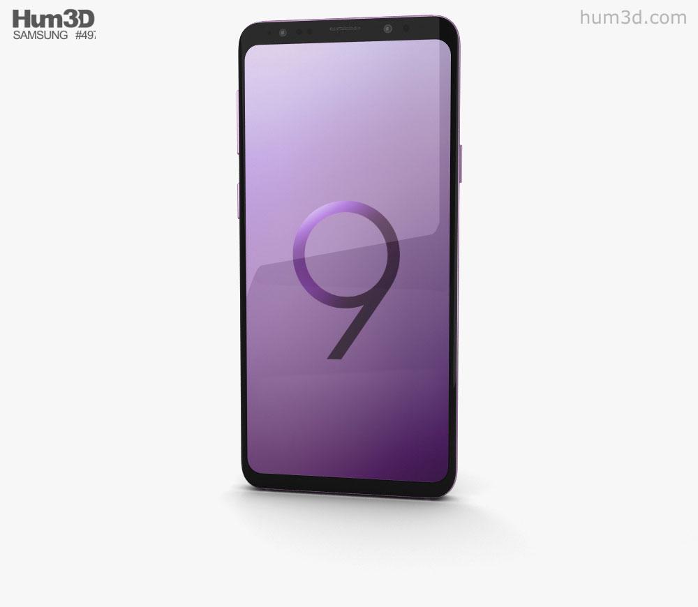 Samsung Galaxy S9 Plus Lilac Purple 3D model.